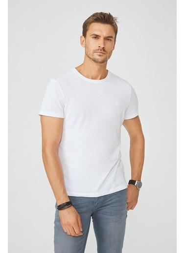 Avva E001000 Bisiklet Yaka Düz T-Shirt E001000 Beyaz